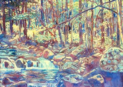 Lighting The Creek Poster by Kendall Kessler