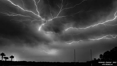 Poster featuring the photograph Lightning 2 by Richard Zentner