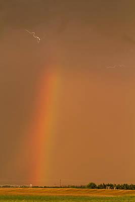 Lightning And Rainbow Poster