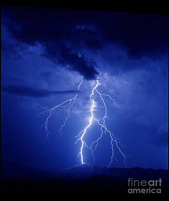 Lightning Poster by K Kent