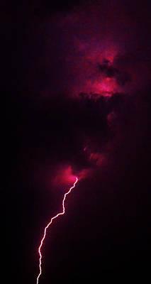 Lightning Poster by Mitch Cat