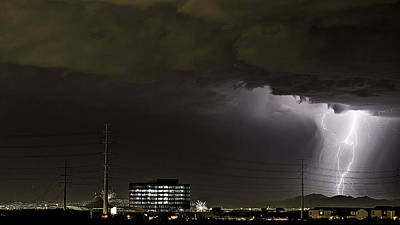 Poster featuring the photograph Lightning Over Las Vegas 2 by James Sage