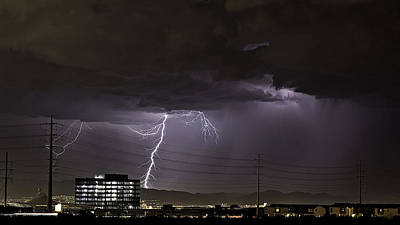 Poster featuring the photograph Lightning Over Las Vegas by James Sage