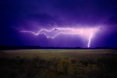 Lightning Serengeti Poster
