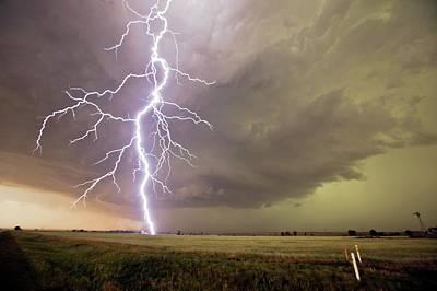 Lightning Strike Poster by Roger Hill
