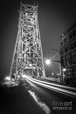 Poster featuring the photograph Lightspeed Through The Lift Bridge by Mark David Zahn Photography