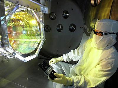 Ligo Gravitational Wave Detector Optics Poster by Matt Heintze/caltech/mit/ligo Lab