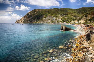 Liguria Coastline At Monterosso Al Mare Poster by George Oze