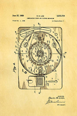 Like Sound And Picture Player 2 Patent Art 1950 Poster