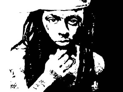 Poster featuring the painting Lil Wayne  by Cherise Foster