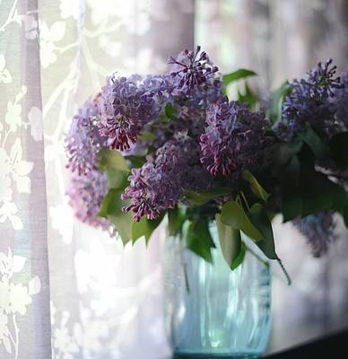 Poster featuring the photograph Lilac Morning by Linda Mishler