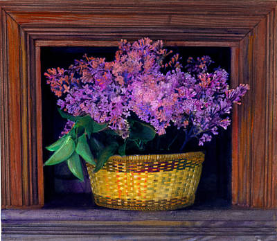 Lilacs Framed Poster by Cindy McIntyre