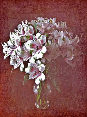 Poster featuring the photograph Lilies In Vase by Diane Alexander