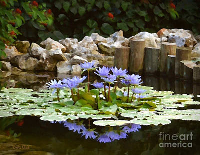 Lilies On The Pond Poster by Darla Wood