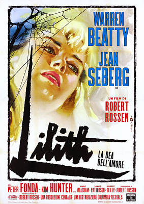 Lilith, Jean Seberg On Italian Poster Poster by Everett