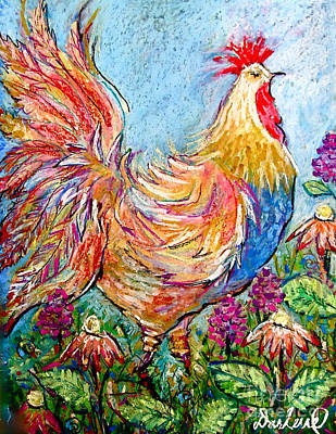 Lillic Rooster Poster by Darlene BEVILL