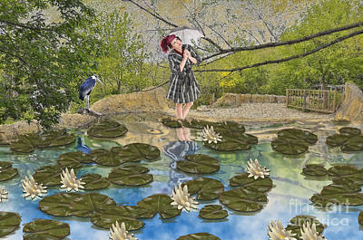 Poster featuring the digital art Lilly Pad Lane by Liane Wright