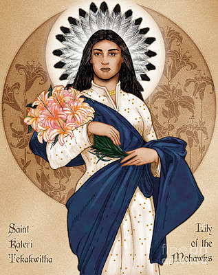 Lily Of The Mohawks Poster by Lawrence Klimecki