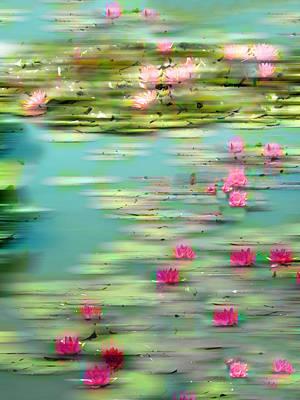 Lily Pond Impressions Poster by Jessica Jenney