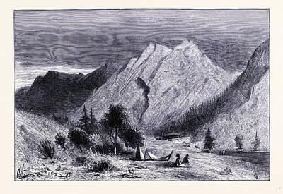 Limestone Rocks Near Pitt River United States Of America Poster by American School