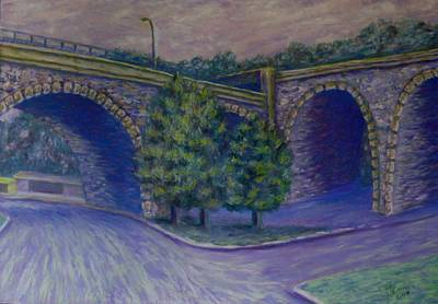 Lincoln Ave Bridge Pittsburgh Poster by Joann Renner