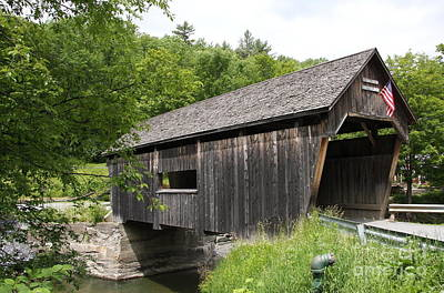 Lincoln Gap Covered Bridge Poster by Christiane Schulze Art And Photography