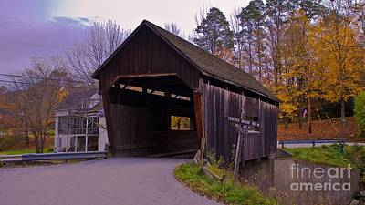 Lincoln Gap Covered Bridge.  Poster