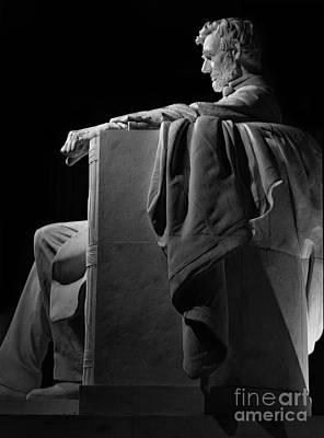 Lincoln In Black And White Poster