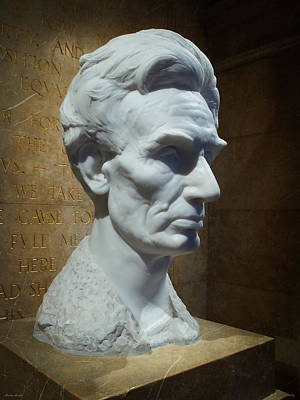 Lincoln Memorial Bust Poster