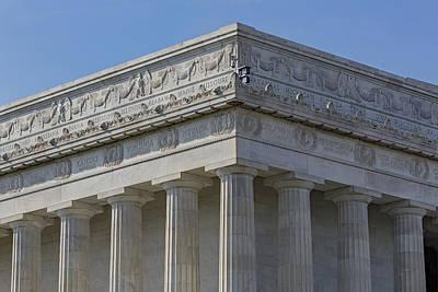 Lincoln Memorial Columns  Poster by Susan Candelario