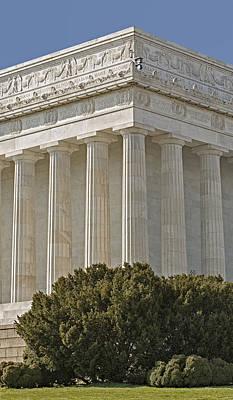 Lincoln Memorial Pillars Poster by Susan Candelario