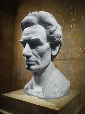Lincoln Memorial Sculpt Poster by Glenn McCarthy