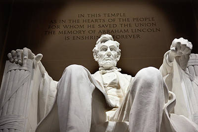 Lincoln Statue, Washington Dc Poster