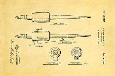 Lindbergh Hood Ornament Patent Art 1950 Poster
