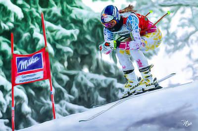 Lindsey Vonn Poster by Don Olea