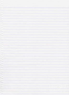 Lined White Paper Poster by Tim Hester