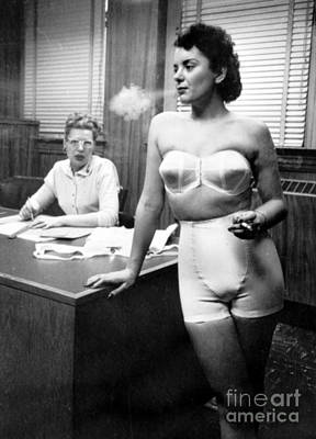 Lingerie Model, 1949 Poster by Science Source