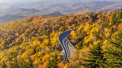 Linn Cove Viaduct On The Blue Ridge Parkway Poster