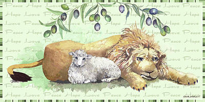 Lion And Lamb Poster