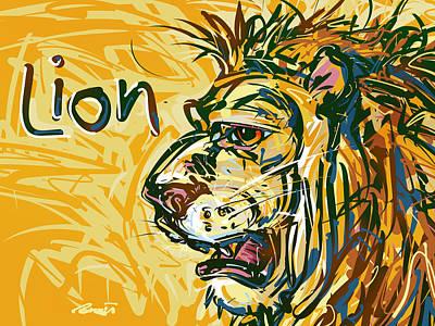 Lion Poster by Brett LaGue