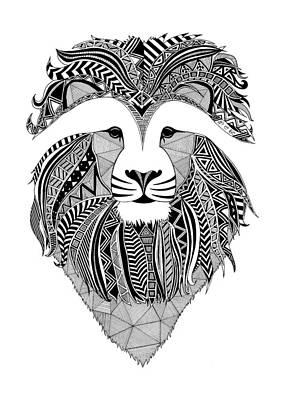 Lion Dark Africa Poster by Art Et Be