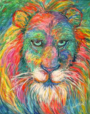 Lion Explosion Poster by Kendall Kessler