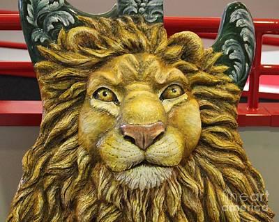 Lion Face Guitar Poster