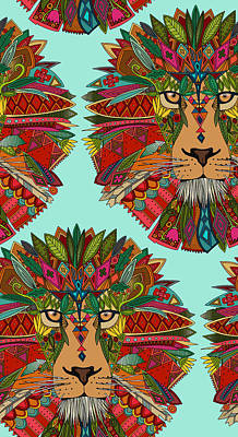 Lion Mint Poster by Sharon Turner