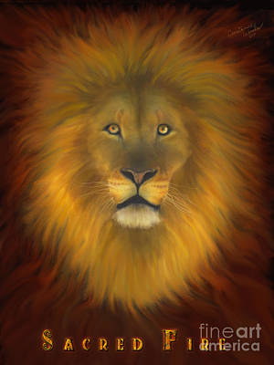 Lion Of Judah Sacred Fire Poster by Constance Woods
