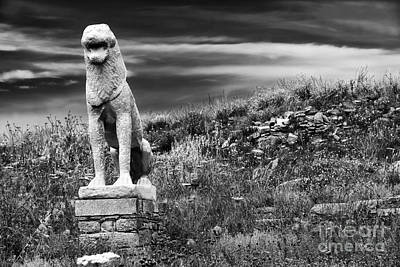 Lion Ruins On Delos Island Poster by John Rizzuto