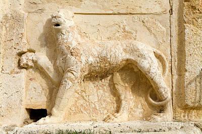 Lion Sculpture, Qasr Al Abd, Jordan Poster by Adam Sylvester