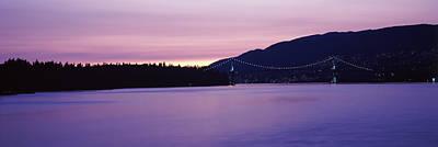 Lions Gate Bridge At Dusk, Vancouver Poster