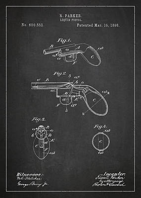 Liquid Pistol Patent Poster by Aged Pixel