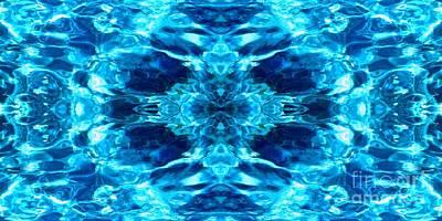 Liquify Blue Poster